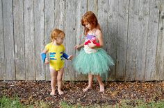 sweetpotato peachtree ariel and flounder diy disney costumes