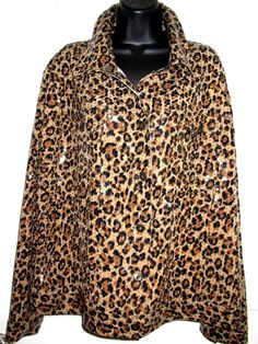 fb3cb19d3c638 Funky ELEMENTZ Womens L S Animal Cheetah Print Jacket Blazer Coat 3X  Plus  Size  Elementz  Blazer