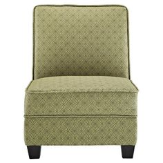 Hardwood-framed accent chair in jungle with diamond-print upholstery and foam cushioning.   Product: ChairConstruction Ma...