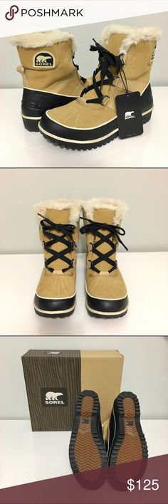 """Sorel Tivoli II Suede Boots Sorel """"Tivoli II"""" Waterproof Suede Duck Boots. Size 7.5 in Curry color. Mid-cut boot with waterproof suede leather upper and rubber sole. Lined with fleece and trimmed with faux fur. Never worn - brand new condition with tags and comes with shoe box. Nothing wrong with it - I decided on a different size instead and now too late to return. ❌ Sorry no trades. Sorel Shoes Winter & Rain Boots"""