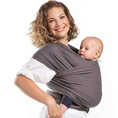 Buy Boba Wrap Baby Carrier, Dark Grey Organic - Original Stretchy Infant Sling, Perfect for Newborn Babies and Children up to 35 lbs Best Baby Carrier, Baby Wrap Carrier, Baby Hands, Baby Feet, Ergonomic Baby Carrier, Baby Sling, Baby Wraps, Traveling With Baby, Organic Baby