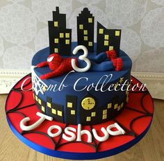 Spiderman cake                                                                                                                                                                                 More