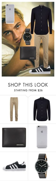 """the perfect man"" by offmiri on Polyvore featuring Lacoste, Burberry, Diesel, Native Union, adidas Originals, Skagen, men's fashion e menswear"