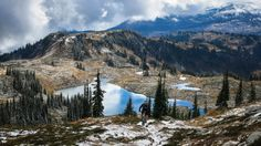 Fall Mountain Biking on Joss Mountain near Revelstoke B.C. [OC] [1362-766]   landscape Nature Photos