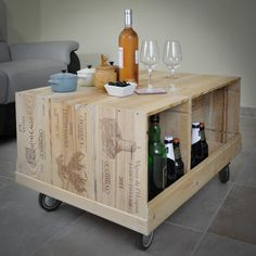 décorer votre salon avec des caisses à vins Woodcase mais à vous de ...