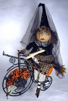 The Gentleman Crafter: Halloween Challenge/Decoration..Biking Witch!