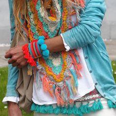 22 New Ideas For Crochet Clothes Boho Bohemia Gypsy Style, Boho Gypsy, Bohemian Style, Hippie Stil, Modern Hippie, Crochet Clothes, Diy Clothes, Vetement Hippie Chic, Hippie Elegante