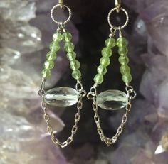 Peridot and Green Amethyst Ombre Gemstone by ElementalGracebyKBD