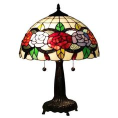 Amora Lighting Tiffany Style AM032TL14 20-inch Floral Table Lamp