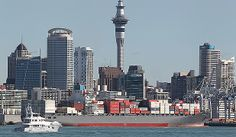 Container ship. Ports of Auckland. http://www.stuff.co.nz/auckland/local-news/western-leader/9198814/Sea-Change-for-a-healthier-Hauraki.