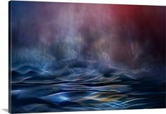 """""""Dusk"""" by Willy Marthinussen features a gorgeous abstract print of the ocean at night. Available at CanvasOnDemand.com."""