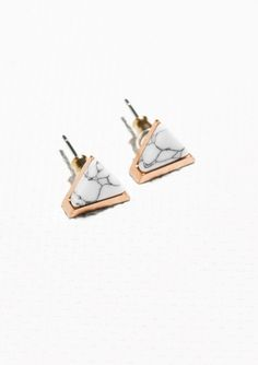 & Other Stories Stone Studs in Gold Jewelry Shop, Jewelry Accessories, Women Jewelry, Jewellery, Statement Earrings, Women's Earrings, Fashion Story, Minimal Fashion, Diamond Are A Girls Best Friend