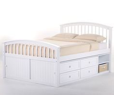 buy our schoolhouse white full size captains bed by ne kids with builtin storage - Storage Beds Full