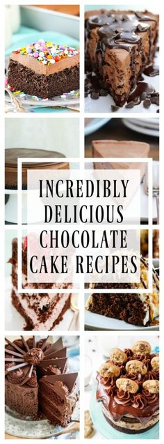 INCREDIBLY DELICIOUS CHOCOLATE CAKE RECIPES