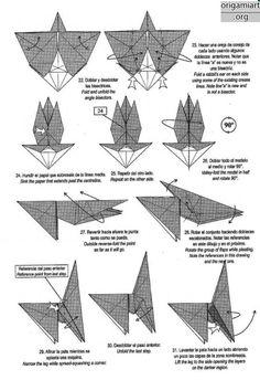 The complex origami: running horse origami DIY graphic | Origami ... | 344x236