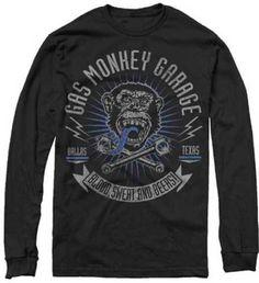 cyberteez.com - Gas Monkey Garage Longsleeve FREE SHIPPING Monkey And Cross Pistons Fast N Loud T-Shirt, $27.95 (http://www.cyberteez.com/gas-monkey-garage/gas-monkey-garage-longsleeve-free-shipping-monkey-and-cross-pistons-fast-n-loud-t-shirt/)