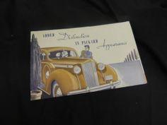 Packard Manual Sales Pamphlet Brochure Artwork Eight Tire Change Trunk Vintage