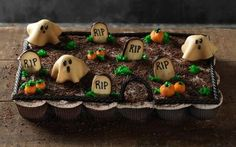 Pull Apart Graveyard Cupcakes Recipe by Food Network Kitchens
