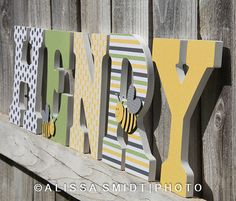 Custom Nursery Wooden Letters Baby Boy Or Girl