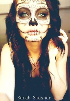 Candy Skull Makeup by ~SarahSmasher on deviantART