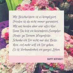 Gluckwunsche Zum Geburtstag Der Schwester Spruche Karten Sisters