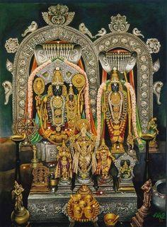 Sri Rama, Sita and Lakshmana in Bhadrachalam, Andra Pradesh Tanjore Painting, Krishna Painting, Krishna Art, Mysore Painting, Krishna Leela, Hare Krishna, Om Namah Shivaya, Lord Rama Images, Lord Jagannath