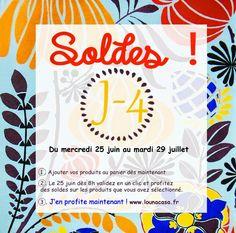 Louna Bazarette by LounaCasa.com | C'est bientôt les soldes !! |  Attention, J-4  avant les soldes !      Préparez vos panier !!     sur www.lounacasa.fr