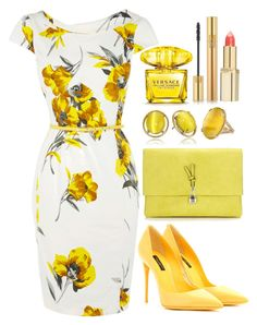 Untitled #4300 by natalyasidunova on Polyvore featuring polyvore, fashion, style, Oasis, Dolce&Gabbana, Wallis, Kate Spade, Yves Saint Laurent, L'Oréal Paris, Versace and clothing