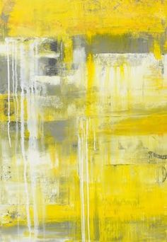 Love yellow and gray art