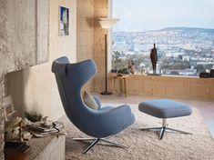 Grand Repos lounge chair by Vitra. Vitra Lounge Chair, Lounge Chair Design, Swivel Armchair, Chair And Ottoman, Sofa Design, Furniture Design, Vitra Furniture, Ottoman Design, Lounge Furniture