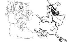 Befana e calza della Befana disegni da colorare gratuiti New Years Eve Party, Google, Over Knee Socks