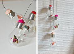 Une belle idée pour recycler les vieilles ampoules !