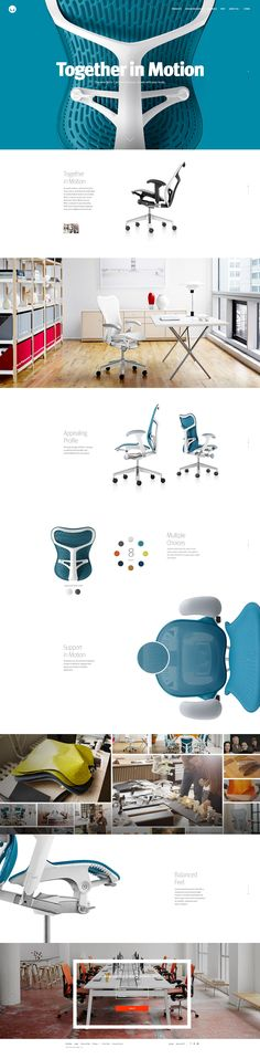 Herman Miller Mirra 2. A chair that moves with your body. #webdesign #design