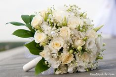 Shades of White - Rose Wedding Bouquet - Knot For Life