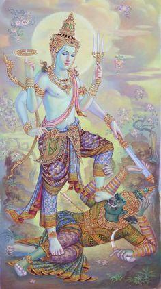 Cambodian Art, Spiritual Paintings, Thailand Art, Scratchboard Art, Lord Vishnu Wallpapers, Lion Wallpaper, Lord Shiva Painting, Spiritus, Buddha Art