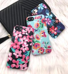 Choices choices Nightlily, Mint Paradiso & Lilac Kiss Cases for iPhone 7 & iPhone 7 Plus from the floral collection at Elemental Cases