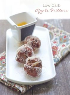 A low carb and gluten free apple fritter recipe from Mellissa Sevigny of I Breathe Im Hungry