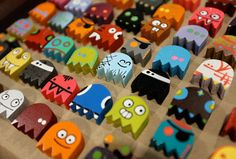 Tiny wooden Pac Man ghosts? I'm not really sure, I just know I REALLY REALLY WANT THEM ALL!!!