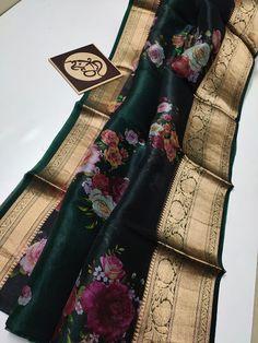 Kora Silk Sarees, Tussar Silk Saree, Jewelry Design Earrings, Necklace Designs, Elegant Fashion Wear, Women's Fashion, Saree Floral, Ethnic Sarees, Elegant Saree