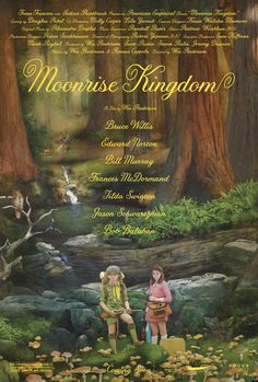Moonrise Kingdom | Jessica Hische doing typface. I do believe the artwork is by Michael Gaskell. I like the disregard for 'rules' it's always refreshing to see a film poster that doesn't look like a film poster.