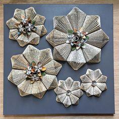 Grigio origami piegato libro carta scultura Piazza Wall Art