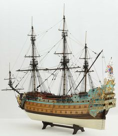 Ship model French Soleil Royal of 1669