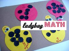 Do you find yourself counting with your kids a lot? Add some dots and count! Ladybug math.