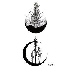 1PC Waterproof Creative Tattoo Stickers Cosmic Ecology Alien Astronauts Rockets Stars Constellation Fake Tattoos Man and Women
