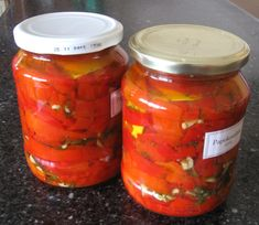 Pickles, Salsa, Cooking, Ethnic Recipes, Food, Canning, Red Peppers, Kitchen, Essen