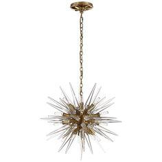 Spiked Starburst Chandelier antique_burnished_brass