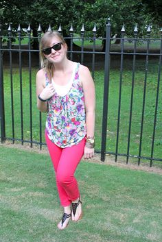 """A pair of Gap red jeans as featured on the blog """"What Is It A Twist?"""""""