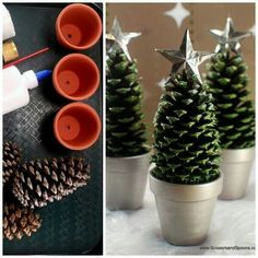 Pine cone holiday craft