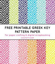 Free Printable Greek Key Pattern Paper from @chicfetti