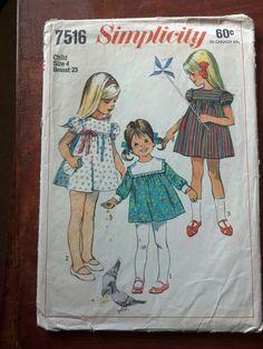 Simplicity 7516 - vintage girls dress